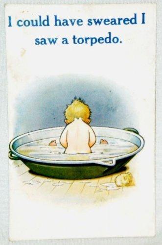 Bamforth Sweared I Saw A Torpedo Comic Postcard