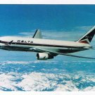 Advertising Postcard Delta Airlines Boeing 767