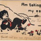 D Millson Taking My Ease Comic 1907 Greeting Postcard