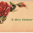 Christmas Postcard Merry Christmas Rose VINTAGE