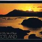 Isle of Skye Scotland Postcard Cuillin Hills Sunset