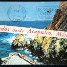 VINTAGE Cliff Diver in Acapulco Mexico Postcard Saludos