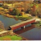 Ontario Laminated Postcard RPPC West Montrose Covered Bridge Kissing Bridge