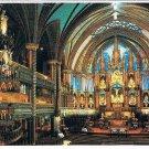 Quebec Laminated Postcard RPPC Main Altar Notre Dame Basilica