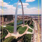 Missouri Postcard St Louis Arch Aerial View Mississippi River