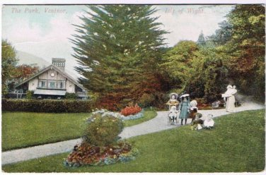 Ventnor Park Postcard Isle of Wight Garden of England Series REM