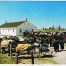 Ontario Laminated Postcard RPPC Old Order Mennonite Families Elmira