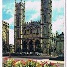 Quebec Laminated Postcard RPPC Notre Dame Basilica