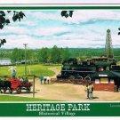 Calgary Alberta Postcard Heritage Park Locomotive 2023 Historical Village