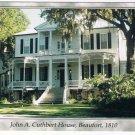 Beaufort South Carolina Postcard John A Cuthbert House