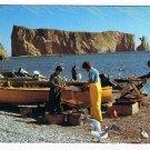 Quebec Laminated Postcard RPPC Perce Fishermen Returning With Fish