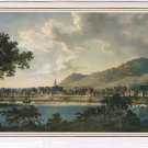 Quebec Laminated Postcard Art North West View Montreal Richard Dillon 1803