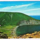 Quebec Laminated Postcard RPPC Gaspe Nord View From Mount St Pierre