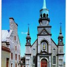 Quebec Laminated Postcard RPPC Eglise Notre Dame du Bonsecours Church