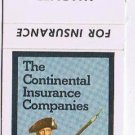 Fargo North Dakota Matchbook Cover Warner & Company Continental Insurance