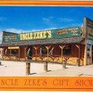 Mitchell South Dakota Postcard Uncle Zeke's Gift Shop Across from Corn Palace