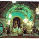 Quebec Laminated Postcard RPPC Notre Dame du Bonsecours Church Interior
