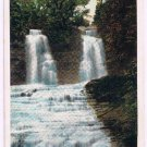 Watkins Glen New York Postcard Twin Falls Lower Hector Curteich 124147 1928