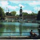 Madrid Spain Postcard Retiro Park Pond