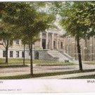 Brantford Ontario Postcard Public Library Broken Circle Cancel Downsview 1919