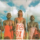 Tanzania Samburu Warriors Postcard Olympic stamp