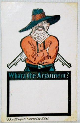What's The Argument? E.B. & E. Co., Comic Postcard