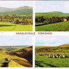 Yorkshire England Postcard Wensleydale Multi View Hawes Buttertub Pass Sheep