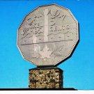 Ontario Postcard Thunder Bay Big Nickel Canadian Centennial Numismatic Park
