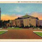 Detroit Michigan Postcard Shrine of the Little Flower Curteich 6A-H1966 1936