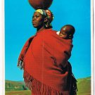 Lesotho Africa Postcard Woman and Chile
