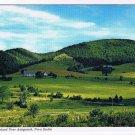Nova Scotia Laminated Postcard RPPC Antigonish Rolling Farmland