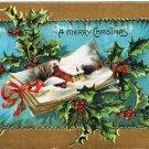 Christmas Postcard Tuck Holly Series Snow Scene House