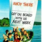 Ahoy There Religious Invitation Postcard Children In Ship Boat