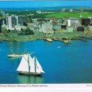 Nova Scotia Laminated Postcard RPPC Schooner Bluenose II Halifax Harbour