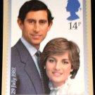Royal Wedding Stamp Prince Charles Lady Diana Postcard