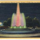 CurtTeich Los Angeles Callifornia Postcard Muholland Memorial Fountain Friffith