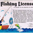 Comic Postcard Fishing License Liar's Permit