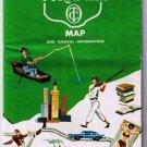 Ohio Road Map Ohio Turnpike With Fares 1960