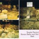 Bath England Postcard Temple Precinct Roman Baths Hot Springs