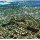 Manitoba Laminated Postcard RPPC Thompson Aerial View