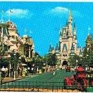 Orlando Florida Postcard Main Street USA Walt Disney Cinderella Castle