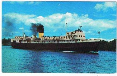 Ontario Postcard SS Norisle Tobermory South Bay Mouth Manitoulin Island Ferry 2