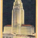 Los Angeles California Postcard Los Angeles City Hall Curteich 1A-H415 1931