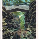 Watkins Glen New York Postcard Cavern Gorge Curteich A-52125 1923
