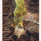 Watkins Glen New York Postcard Whirlwind Gorge Curteich A-52126 1913