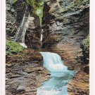 Watkins Glen New York Postcard Minnehaha Falls Curteich A-52129 1913