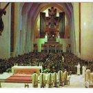Quebec Laminated Postcard RPPC St Joseph's Oratory Nave