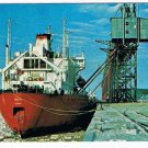 Manitoba Laminated Postcard RPPC MV Arctic Loading Grain 1979 Churchill