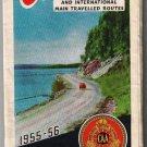 Ontario Road Map 1955-56 CAA Ontario Motor League