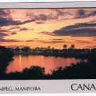 Manitoba Laminated Postcard RPPC Winnipeg Red & Assiniboine Rivers Junction